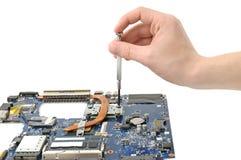 Reparatur eines Computers lizenzfreies stockfoto