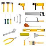 Reparatur- und Bauwerkzeugsatz Lizenzfreies Stockbild