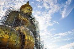 Reparatur von großem Buddha Stockfoto