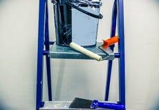 Reparaturen in der Wohnung Zubehör für Farben Lizenzfreie Stockbilder