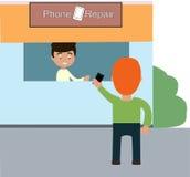 Repare el smartphone Fotografía de archivo libre de regalías
