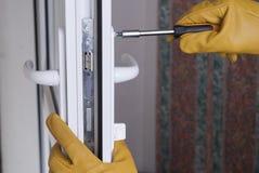 Repare a fechadura da porta imagens de stock royalty free