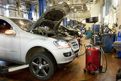 Repare a garagem Foto de Stock Royalty Free