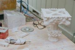 repare las estatuas de mármol Imagenes de archivo
