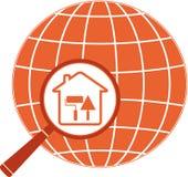 Repare o ícone com trowel, rolo e planeta da casa ilustração royalty free