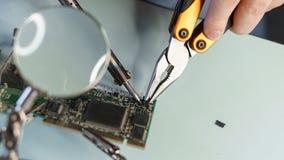 Repare o cartão-matriz microeletrônica fotos de stock royalty free