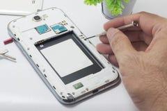 Repare o telefone celular Fotos de Stock