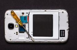 Repare o telefone esperto Foto de Stock