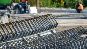 Repare o trabalho na estrada de cidade Fotografia de Stock