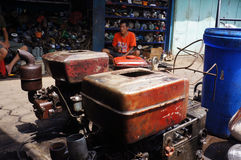 Reparera dieselmotorer Fotografering för Bildbyråer