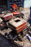 Reparera dieselmotorer Arkivbild
