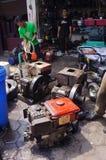 Reparera dieselmotorer Royaltyfria Foton