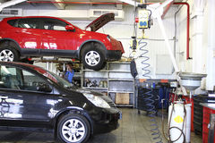 Reparera garage Royaltyfri Foto