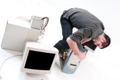 reparera shoppar Arkivfoton