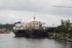 reparera skeppsvarven Arkivbilder
