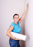 reparera tänker kvinnan Fotografering för Bildbyråer