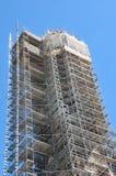 reparerar material till byggnadsställning Royaltyfria Foton