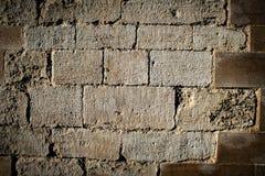 Reparerat medeltida stenarbete Royaltyfri Fotografi