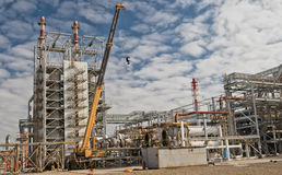 Reparieren Sie Arbeit an der Raffinerie Lizenzfreies Stockbild