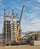 Reparieren Sie Arbeit an der Raffinerie Lizenzfreie Stockbilder