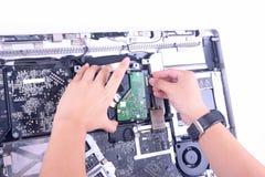Reparieren Sie Computer Lizenzfreie Stockfotos
