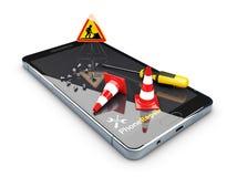 Reparieren Sie den Smartphone Abbildung 3D Lokalisiertes Weiß vektor abbildung