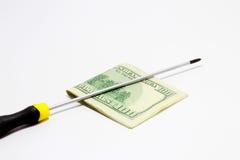 Reparieren Sie Geld lizenzfreie stockfotos