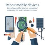 Reparieren Sie Handy vektor abbildung