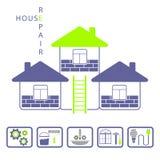 Reparieren Sie Haus Stockfotos