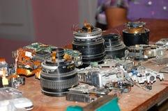Reparieren Sie Kamera und Objektiv Lizenzfreie Stockbilder