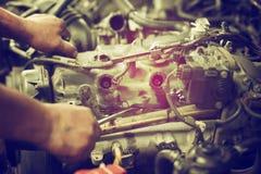 Reparieren Sie Kolbentriebwerk Lizenzfreies Stockbild