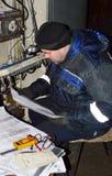 Reparieren Sie Maschine CNC Stockbilder