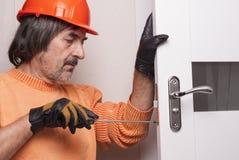 Reparieren Sie Türschloss Stockfoto