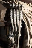 Reparierenblock und Seil Lizenzfreies Stockbild
