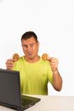 Reparing les biscuits Photos stock