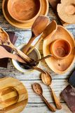Reparing wooden utensils royalty free stock images