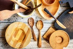 Reparing wooden utensils royalty free stock photos