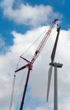 Reparo da turbina de vento Imagem de Stock Royalty Free