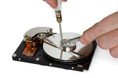 Reparo de HDD Imagens de Stock