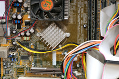 Reparo de um computador Foto de Stock