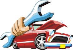 Reparo do carro ilustração royalty free
