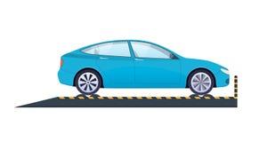 Reparo do carro Serviço do carro Teste levando do impacto, diagnósticos, inspeção técnica Fotografia de Stock Royalty Free
