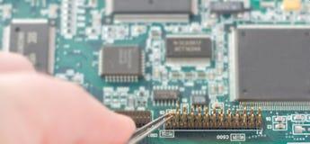 Reparo do cartão video do computador Foto de Stock Royalty Free