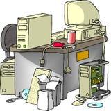 Reparo do computador ilustração stock