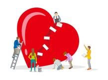 Reparo do coração - arte do conceito da saúde mental Imagens de Stock Royalty Free