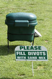 Reparo do Divot Foto de Stock Royalty Free