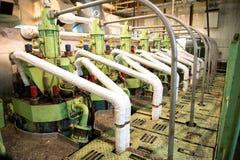 Reparo do motor marinho imagem de stock
