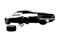 Reparo do pneu de carro do músculo Imagem de Stock