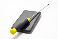 Reparo do telefone móvel imagens de stock