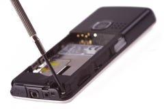 Reparo do telemóvel Foto de Stock